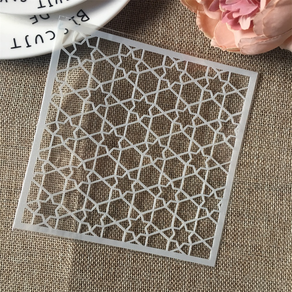 Hot 13cm Geometry Star DIY Craft Layering Stencils Wall Painting Scrapbooking Stamping Embossing Album Card Template