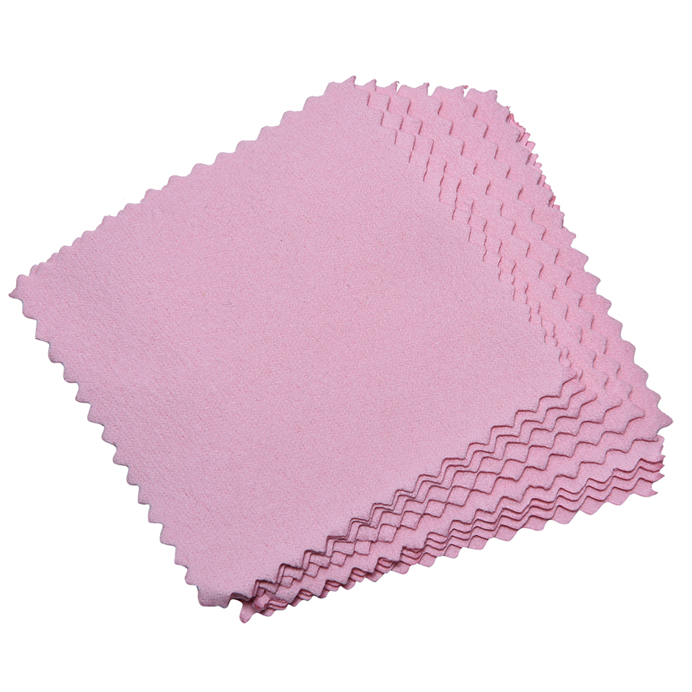 10Pcs  Wipe Silver Jewelry Polishing Cloth Silver Ornaments Cloth Cleaning Cloth Useful Jewelry Tools