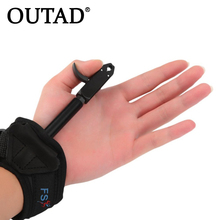 Big sale OUTAD Hunting Archery Compound Bow Release Caliper Aid Strap Shooting Pro Arrow Trigger Wristband Accessories grip 180 degree
