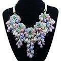 Новый Урожай Колье Кисточкой Бусины Цветы Ожерелье и Кулон Заявление Ожерелье для Женщин