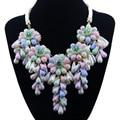 New Vintage Gargantilha Tassel Beads Flores Colar & Pendant Moda Colar Apelativo para As Mulheres