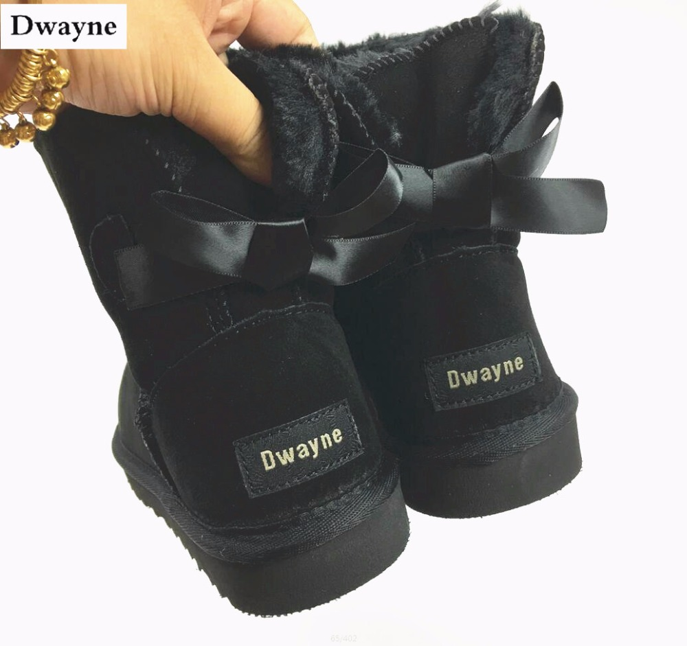 2017 winter women snow boots one bow boot warm round toe comfortable flat shoes female fashion boots popular wholesale free ship