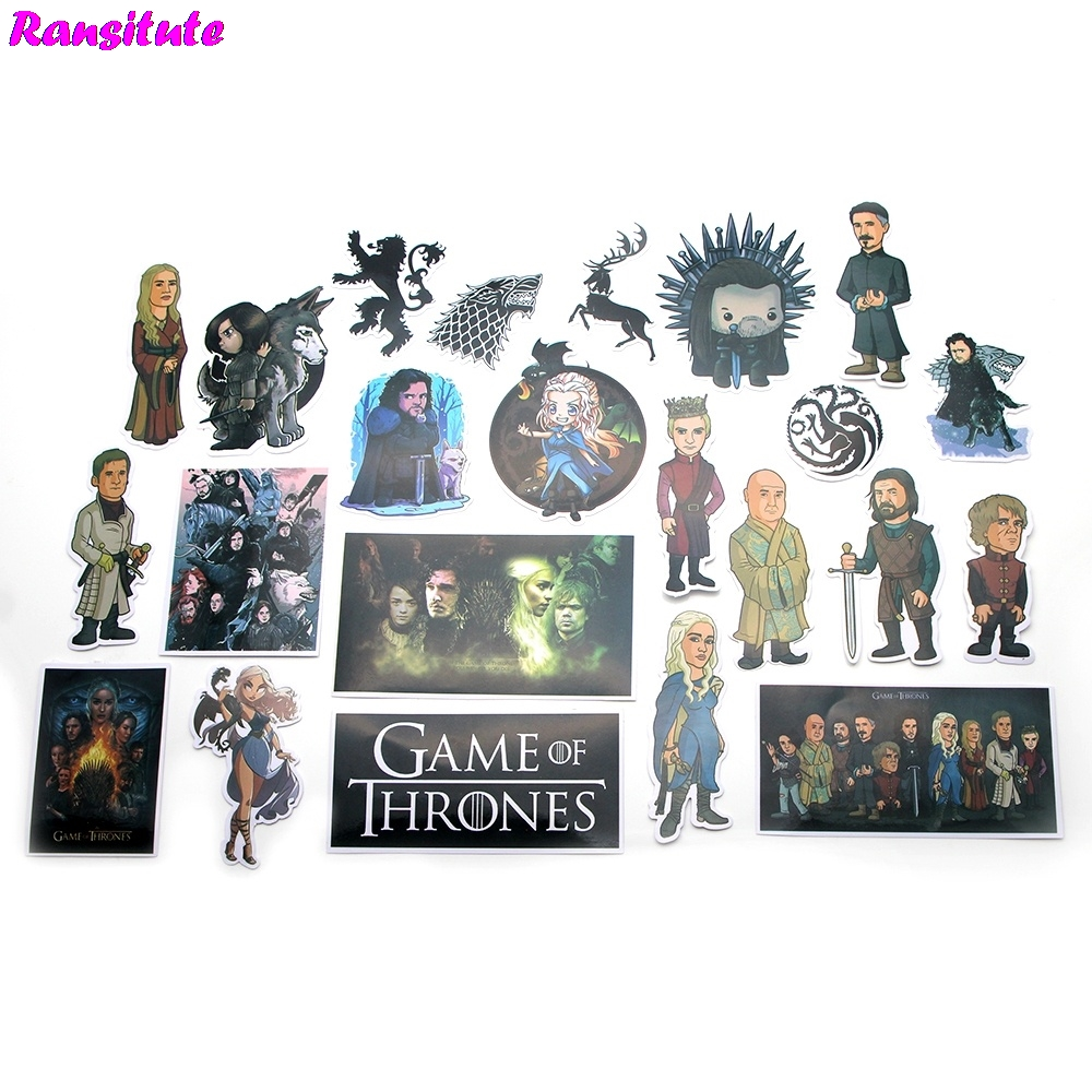R117 23pcs/set game of thrones sticker motorcycle and suitcase cool laptop sticker skateboard stickerR117 23pcs/set game of thrones sticker motorcycle and suitcase cool laptop sticker skateboard sticker
