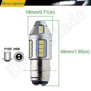 Image 2 - 1Pcs 3030 30SMD P15D 25 1 H6M Dual Brightness LED Motorcycle Motor Bike/Moped/Scooter/ATV Headlight Head Lamp Bulb Lights White