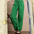 Spring Autumn Women Casual Trousers Wide Leg Cotton Linen Pants Pantalon Femme Bloomers Plus Size Knickerbocker Calcas Feminina
