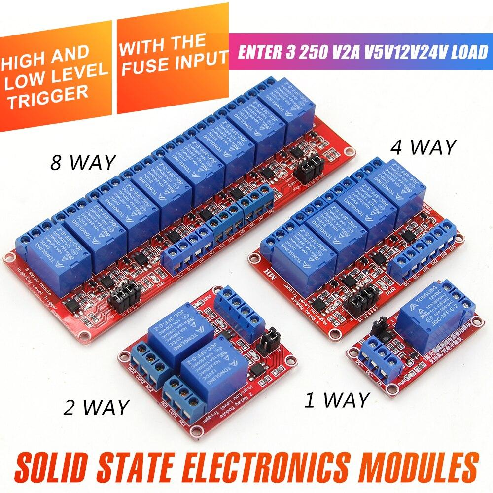 Плата релейного модуля WAVGAT 1 2 4 8 каналов 5 в 12 В, экран со стандартным триггером высокого и низкого уровня для Arduino