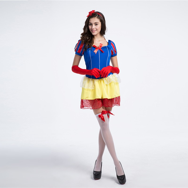 Lovely Girls Princess Dress Party Gown Halloween Cute Princess Snow White Costume For Women Vestidos