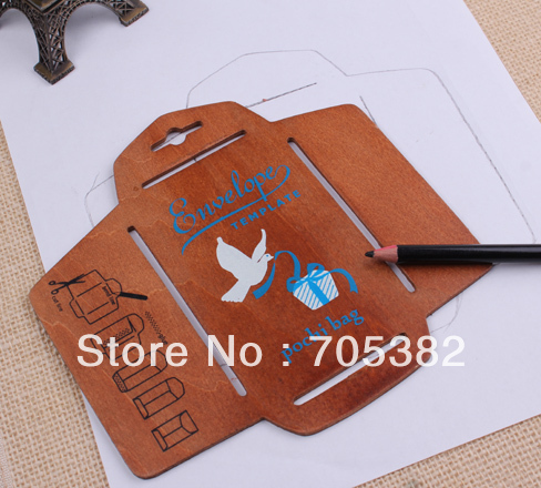 Pc New Wooden Envelope Template XCm Manual Stencil Mould