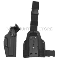 Safariland style Military Leg Holster Gl0ck 17 Tactical Gear Leg Holster for GL 17 18 19 22 23 31 32