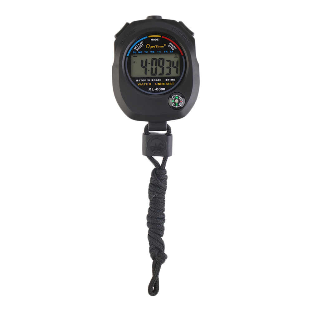 Waterproof Sports Stopwatch Professional Handheld Digital LCD Sports Stopwatch Chronograph Counter Timer with Strap