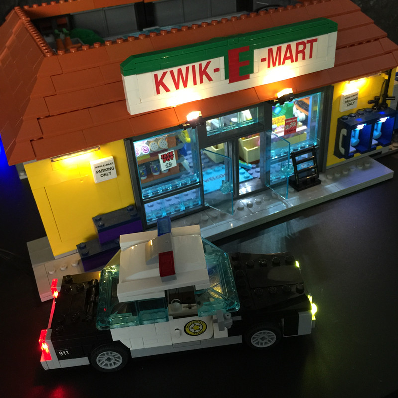 Led Light Kit For lego and Lepin The Kwik-E-Mart Building Block Model Light Set Compatible With 71016 And 16004 led light up kit gor city model building block figures accessories kit toys for children compatible with lepin