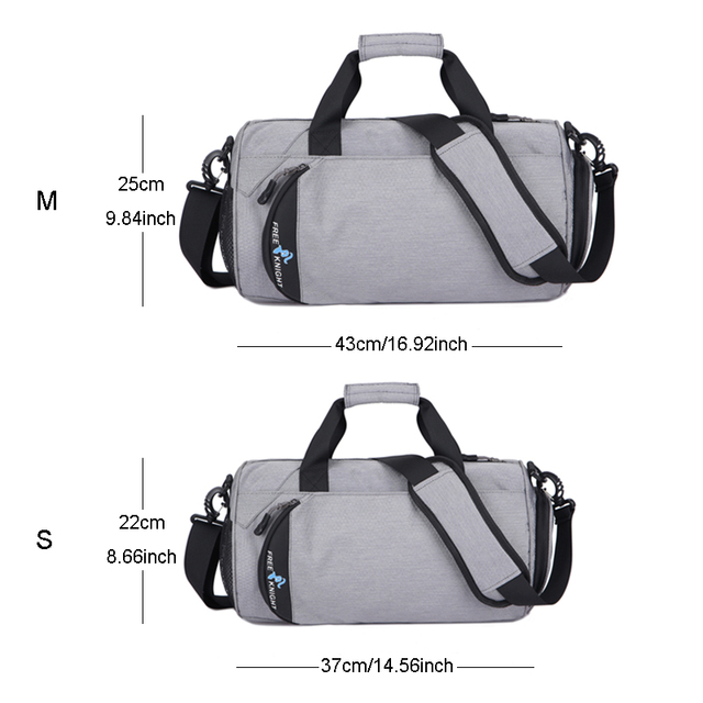 Waterproof Sports Gym Bags, Multifunction Dry Wet Separation Bags, Fitness Training Yoga Shoulder Bag With Shoes Bags 3 Colors 1