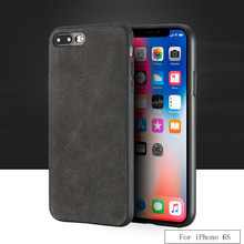 Luxury brand All-handmade genuine fur phone case For iphone 6S Comfortable touch all-inclusive phone case(China)