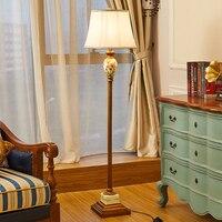 European Retro Lamp Floor Exotic Floor Lamps Floor Lamps for Living Room American Retro Style Iron Tripod Wooden Floor Lamp