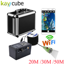 Kaycube HD WIFI Wireless 20M 30M 50M Underwater Fishing Camera Video Recording For IOS Android APP Supports Video Record 1000TVL hd 720p wifi wireless 15m underwater fishing camera video recording for ios android app supports video record aluminum alloy