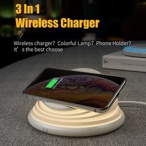 Image 2 - FPU เดสก์ท็อป Night โคมไฟ LED Qi Wireless Charger ผู้ถือโทรศัพท์ Fast CHARGING สำหรับ iPhone XS MAX XR X Samsung S10e s10 + S9 S8 หมายเหตุ 8
