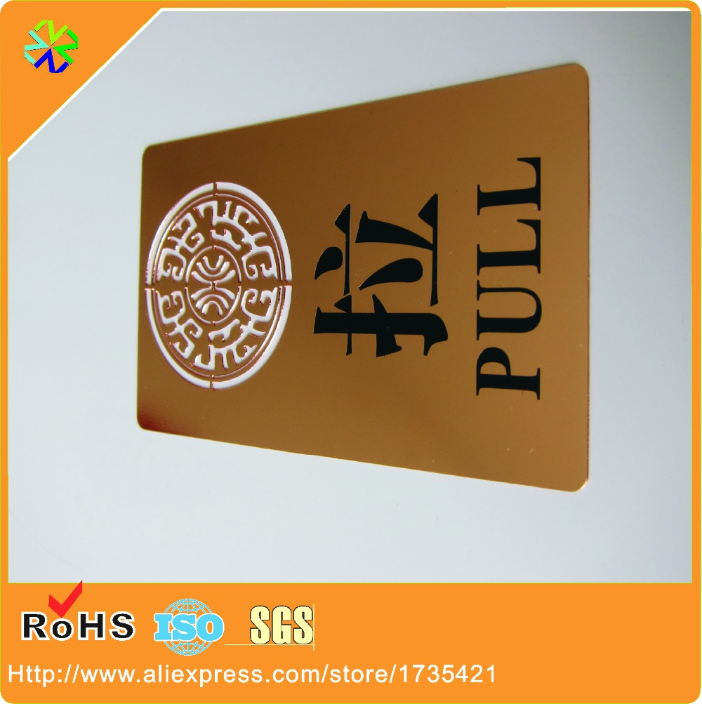 100pcs/lot)Custom rose gold plated metal business cards-in Business ...