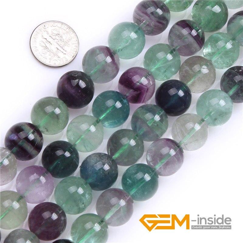 Fluorite Natural Puff Oval Genuine Semi-precious Gemstone beads A Grade 10x14mm 15/'/'L