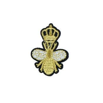 1PC Biene Honig Patches Stickerei Eisen Auf Patch Dekoration Für Kleidung Für T-shirt Zubehör Bestickt Patch