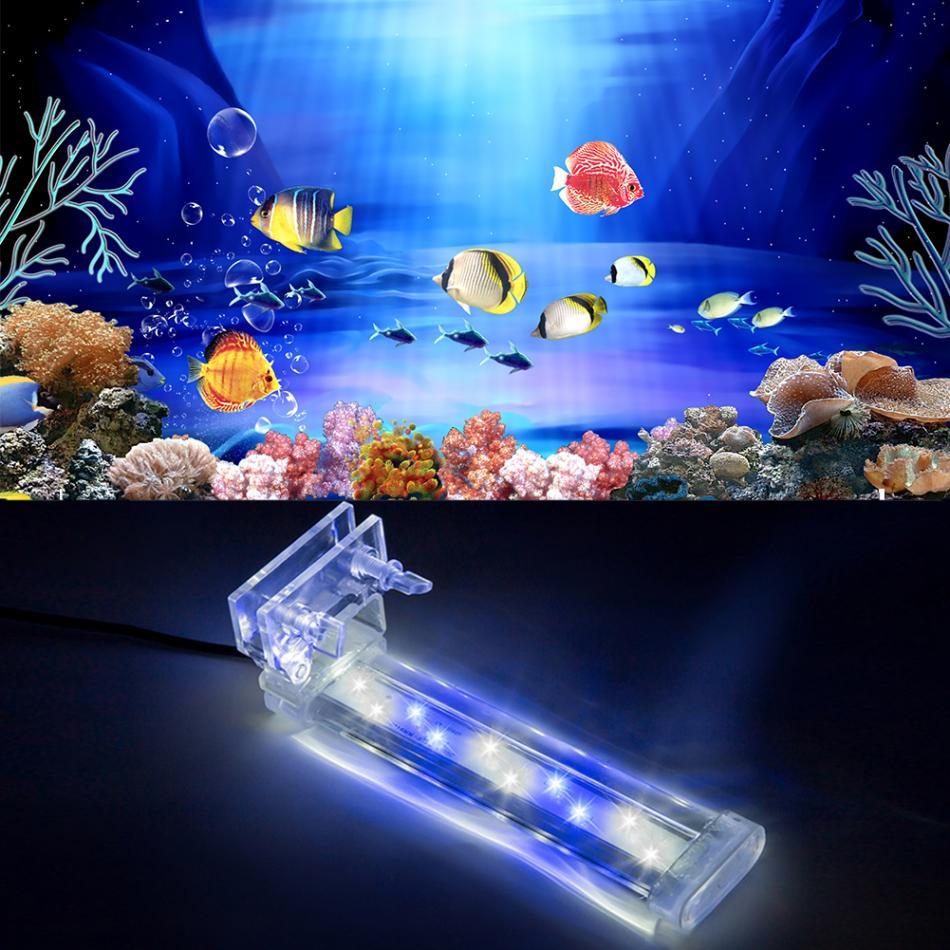 4 Types Aquarium Fish Tank Led Light Clip Blue White