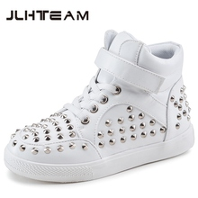 2016 Autumn Spring Kids Snow Boots Fashion Rivet Boys And Girls Warm Fur Shoes Soft Cotton Children Sneakers Good Quality Warm