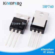 10 pçs/lote irf740 irf740pbf mosfet n chan 400v 10 amp para 220 tríodo transistor novo