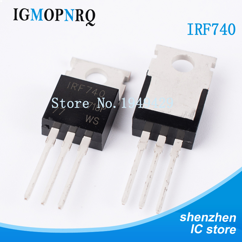 10 Unids/lote IRF740 IRF740PBF MOSFET N-Chan 400V 10 Amp-220 Transistor Triodo Nuevo