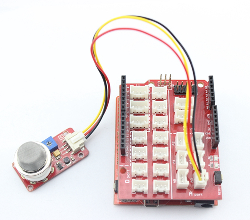 How To Build A Mq2 Smoke Sensor Circuit With Raspberry Pi Buy Elecrow Crowtail Gas Module Electronic Leakage Detection Diy Kit From Reliable Suppliers On