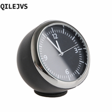 QILEJVS New Car Mini Quartz Watch Pointer Digital Clock Decoration Auto Supplies