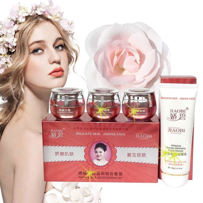 4 In 1 Wholesale Original Hongkong JiaoBi Jiao Yan Cosmetic Set Moisturizing Anti Wrinkle Face Cream Lotion Beauty Skin Care