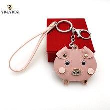 YD&YDBZ Cute Pink Pig  Pendant Keychain Fashion Women Bag Keychains High Quality Car Key Ring Romantic Girl Gift