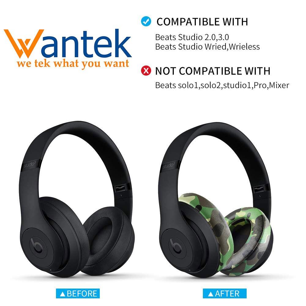 Wantek Almofadas Almofadas de Substituição Compatível com Batidas Estúdio 2 Atualizado e Estúdio 3/B0500 Wired/Wireless B0501 fones de ouvido