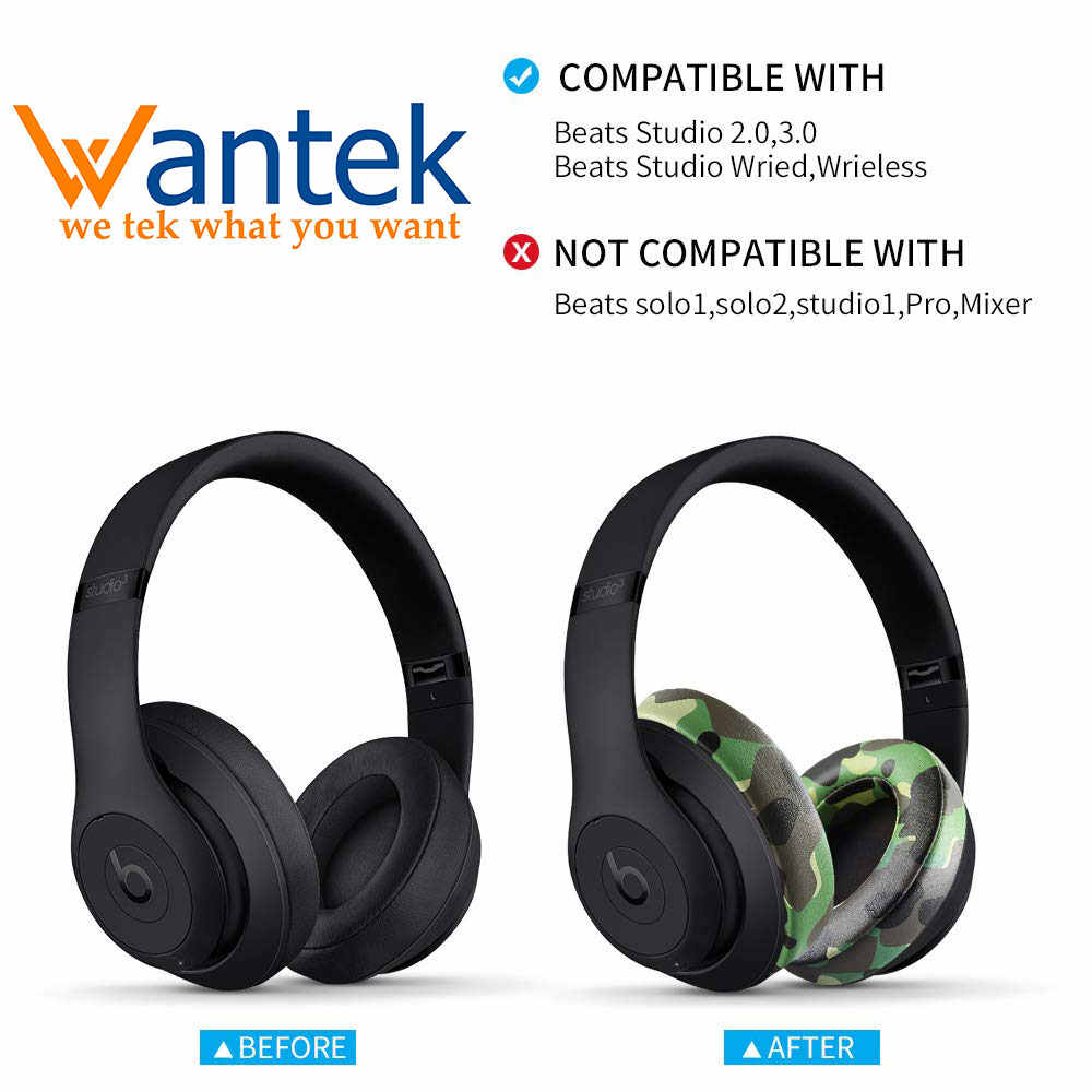 Wantek Cushions Upgraded Replacement Ear Pads Compatible With Beats Studio 2 And Studio 3 Wired B0500 Wireless B0501 Headphones Aliexpress