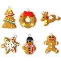 HOT 6PCS Christmas Tree Ornament Keychain Hanging Pendants XMAS Funny Toy Levert Dropship Oct 06
