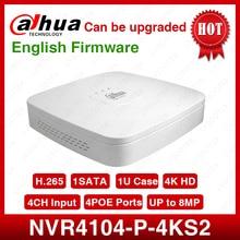 大華 nvr NVR4104 P 4kS2 4CH nvr 8MP スマート 1U 4PoE 4k & H.265 lite ネットワークビデオレコーダーフル hd 1080 1080p レコーダーと 1 sata