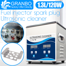 Granbo 1.3L 120W Ultrasonic Fuel Nozzle Cleaner Hot Water Cleaning Bath Oil Nozzle Spark Plug Small fuel injector remove carbon цена и фото
