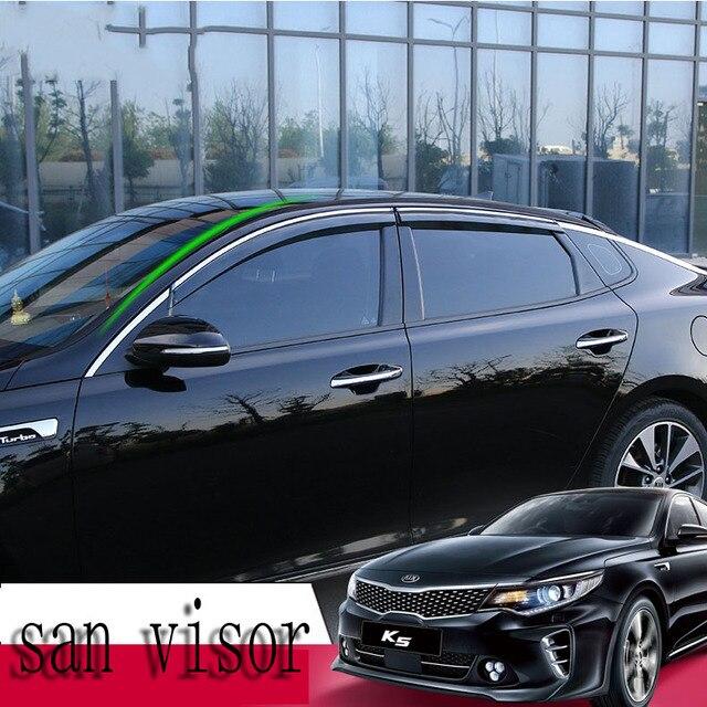 Auto decoration accessories Car door window visor car sun visor wind  deflectors Weather Shield 4pcs For Kia optima 2016-2017 8ea857c9aa4
