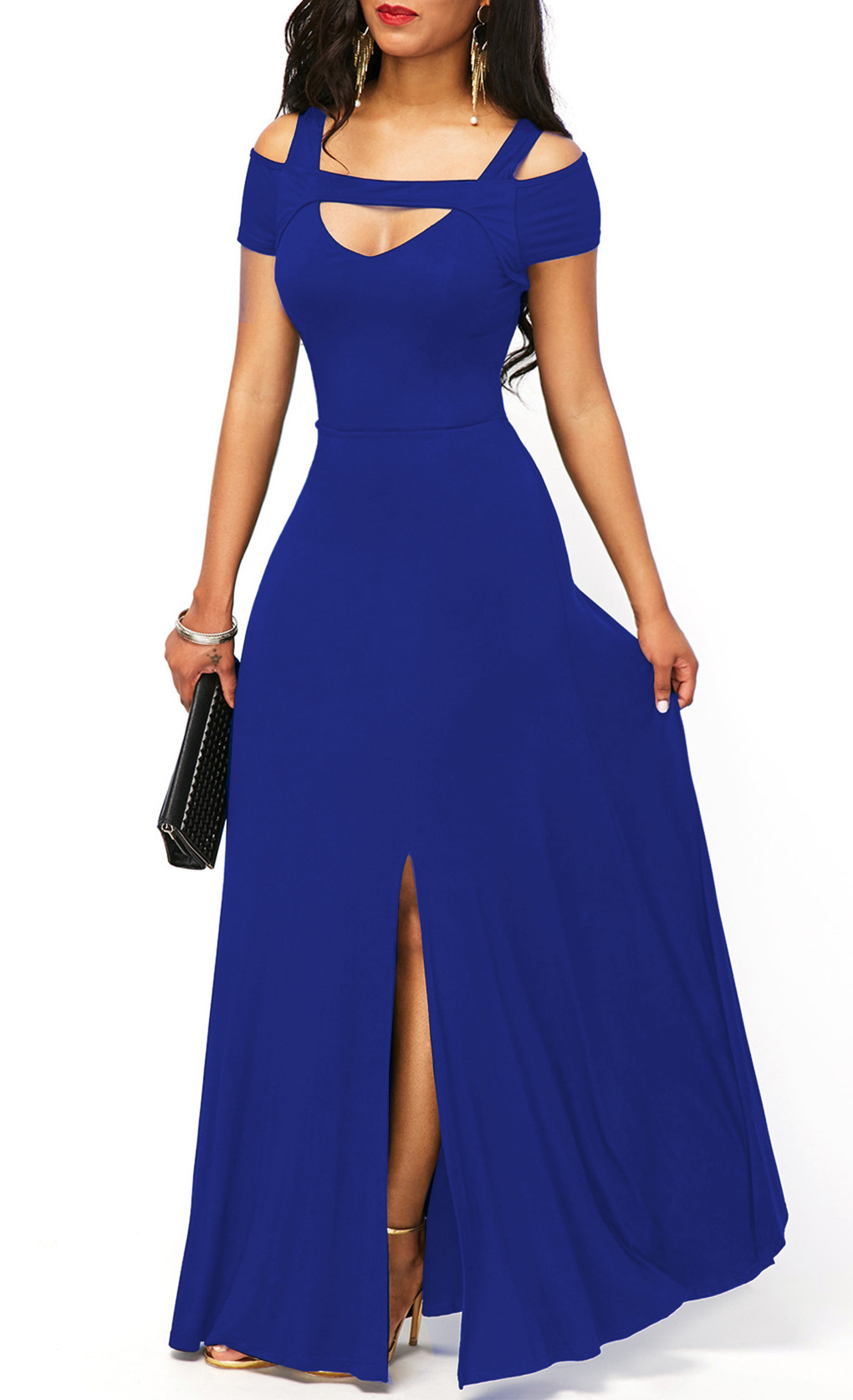 HTB18UMtdBGw3KVjSZFDq6xWEpXaw - Summer Dress Women Elegant Sexy V Neck Off Shoulder Split Long Party Dress Casual Plus Size Slim Ball Gown Maxi Dresses 5XL