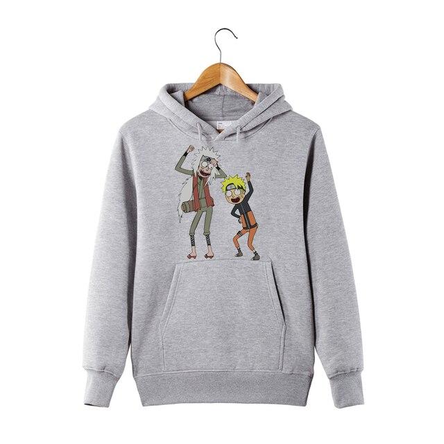 Rick and Morty Naruto Hoodie Anime Manga Sweatershirt Pickle Rick Naruto and Jiraiya Funny Hoodie Sweatershirt 1