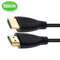 Shuliancable HDMI cable 1000pcs/lot 2.0 1.4 support 4K*2K 60Hz 1080P 3D gold plated Cable High speed for HD TV XBOX PS3 computer