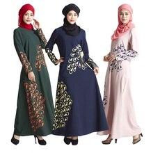 Malaysia Muslim Dress Abaya turkey font b Islamic b font Women Feather print dresses pictures jilbab