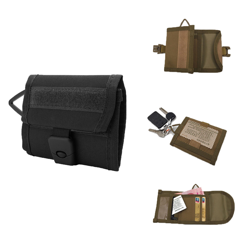Tactical Wallet Id Card Money Carry Pocket Keychain Purse Lightweight Compact Utility Wallet Bag