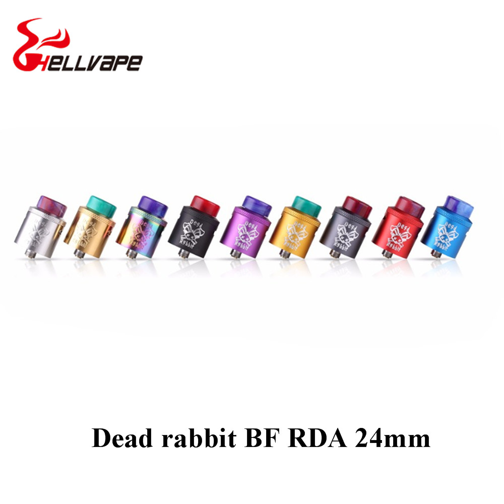 original Hellvape Dead Rabbit BF RDA Tank Supports Single/Dual Coil Vape For elctronic cigarette squonk box Mod yiloong vape squonk e liquid bottle