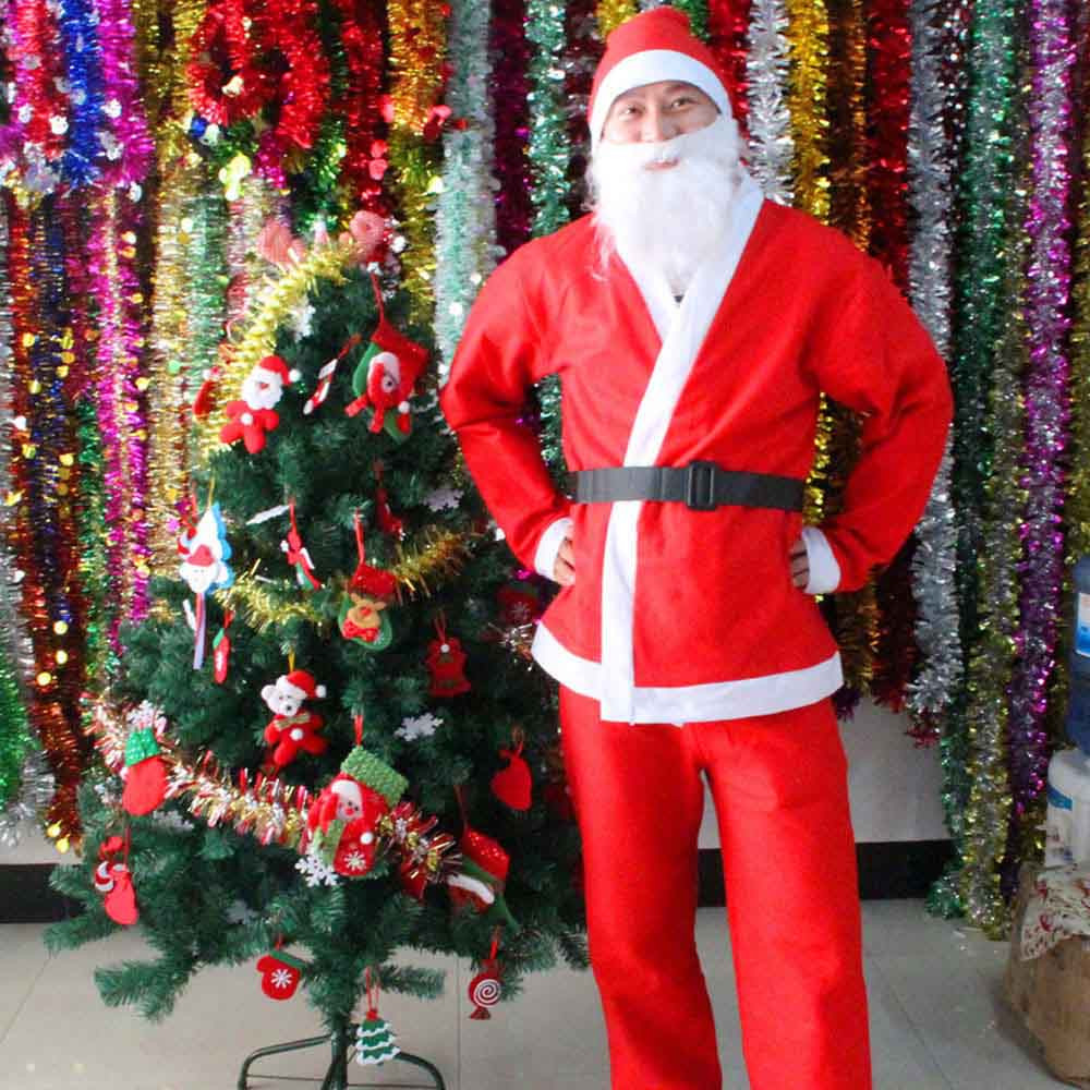 Christmas Santa Claus Costume Adult Set Brand New and High