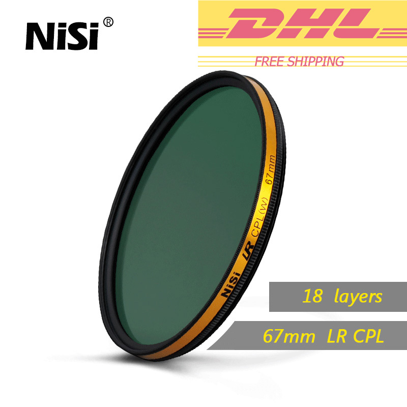 Nisi 67mm LR CPL Filter HD Ultra Thin Polarizer Filters Rings Of Waterproof Oil Pollution Circle Polariz Filter Free Shipping benro 82mm pd cpl filter pd cpl hd wmc filters 82mm waterproof anti oil anti scratch circular polarizer filter free shipping