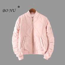 BONU 2017 New Autumn Winter Bomber Jacket Women High Quality Casual Coat Plus Size Basic Coat feminina Quilted Short Jacket