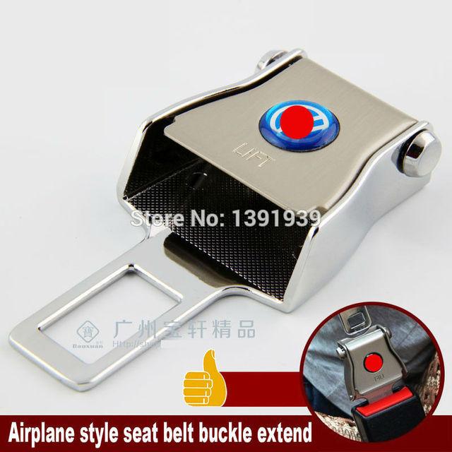 Aeroplano del estilo del cinturón de hebilla extender Universal cinturón de seguridad del coche para opel zafira adam rocas corsa astra gtc cascada insignia