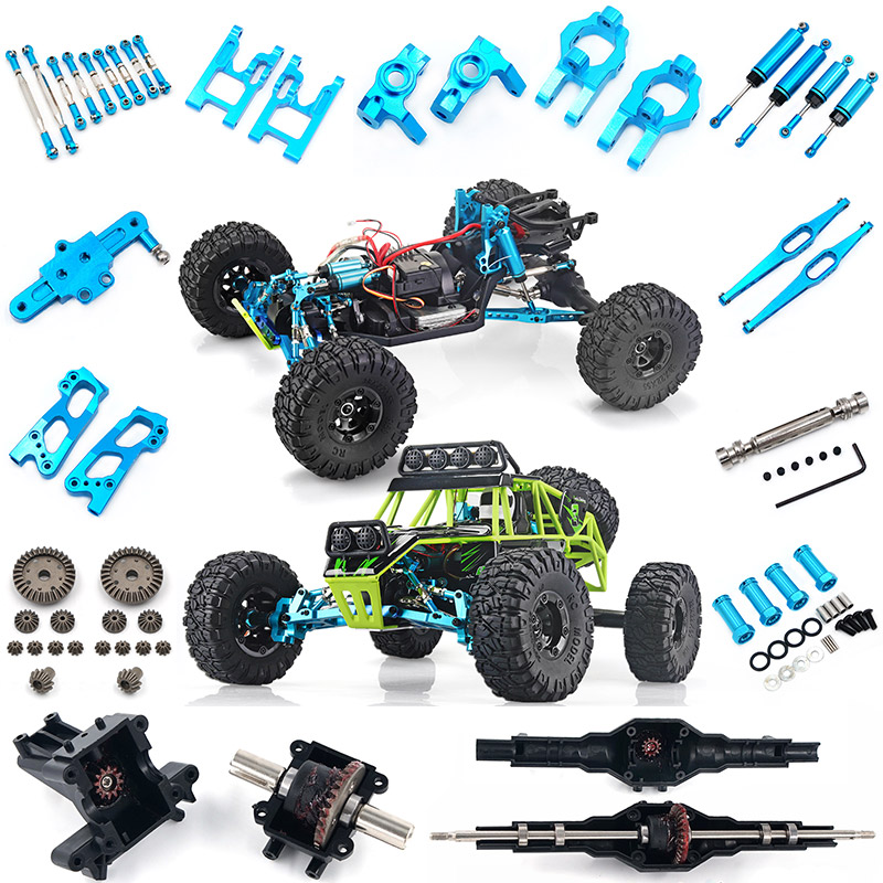 Wltoys 12428 12423 RC Car All Upgrade Metal Parts RC Truck Front Rear Differential Gear 12428-0011/0012/0013/0014 12428 Parts