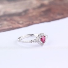 gemstone fine jewelry factory wholesale 10x16mm oval 925 sterling silver natural tourmaline ring for women