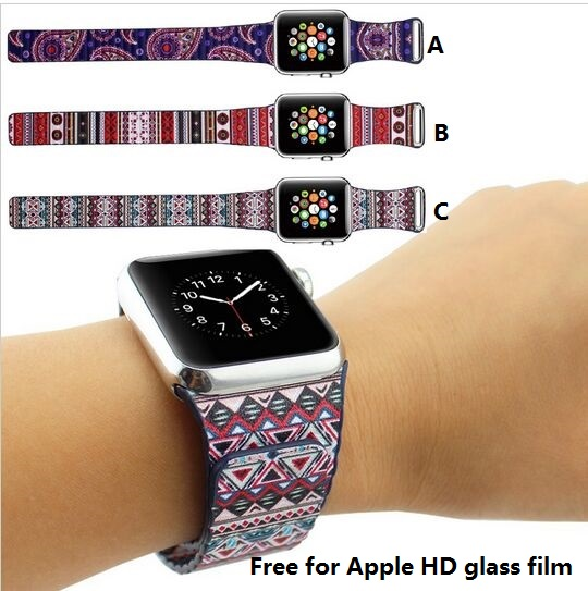 GOOSUU Fashion Bohemian Leather Loop Watchband for iwatch bands Strap Magnetic Stainless steel Buckle for Apple Watch 38mm 42mm 38 42mm leather strap cuff bracelet watch bands for apple watch for iwatch 5 colors new hot selling